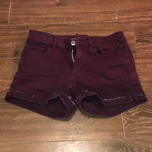 maroon American Eagle women's shorts size 4
